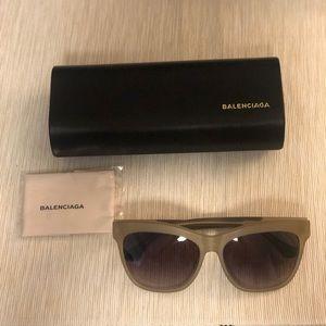 Balenciaga oversized 59 mm sunglasses - LT GOLD